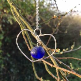 Chilli Designs Blue Heart Pendant