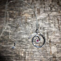 Chilli Designs Ruby Swirl Pendant 1