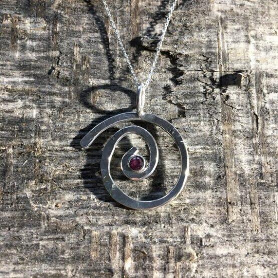 Chilli Designs Ruby Swirl Pendant 3