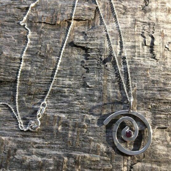 Chilli Designs Ruby Swirl Pendant 4