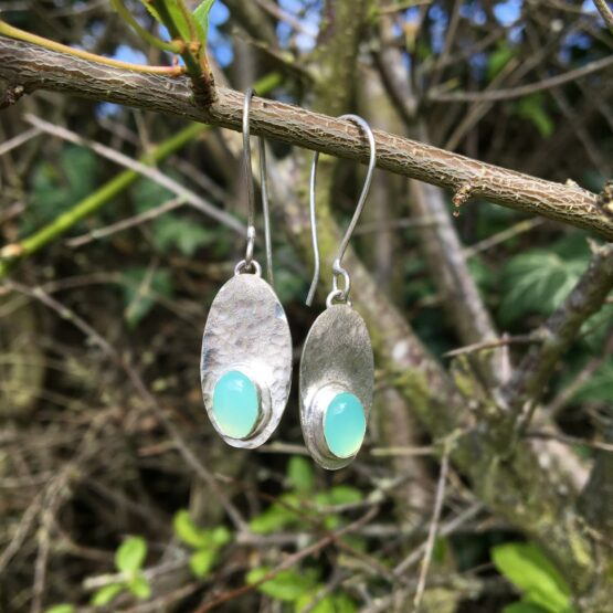 Chilli Designs chrysoprase drop earrings