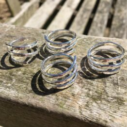 chilli designs hammered spiral ring