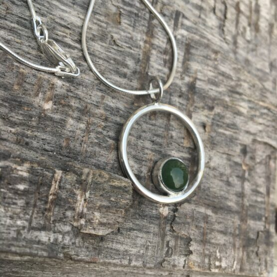 Chilli Designs jade circle pendant