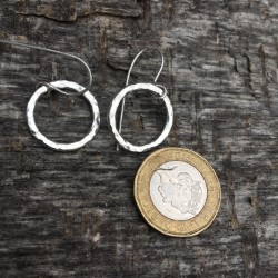 Chilli Designs small hammered drop earrings 2mm