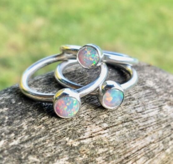 Chilli Designs synthetic opal ring