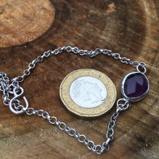 Chilli Designs amethyst chain bracelet 2