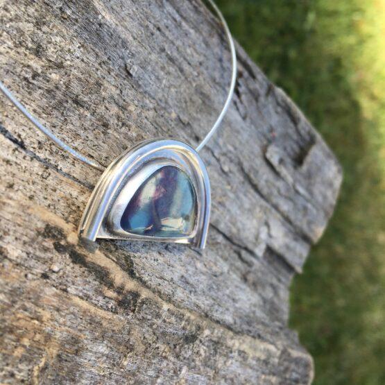 Chilli designs fluorite rainbow pendant