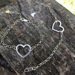 hammered heart bracelet Chilli Designs