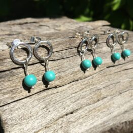 Chilli Designs turquoise stud drop