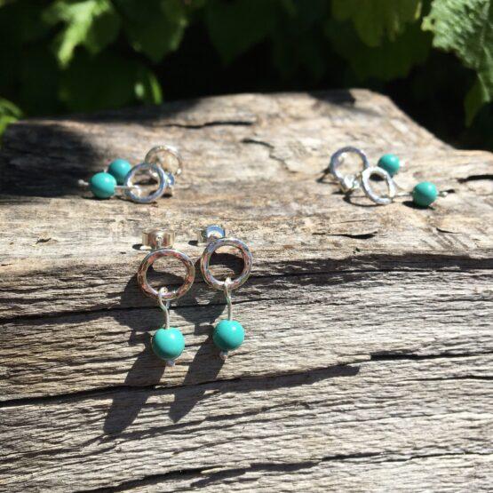 Chilli Designs turquoise stud drop
