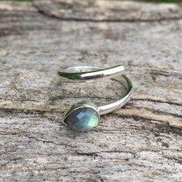 Chilli Designs labradorite open ring