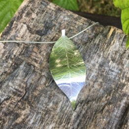 Chilli Designs leaf pendant