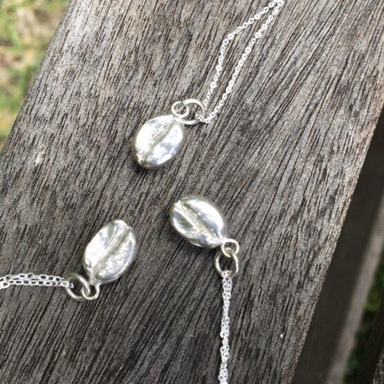 Chilli Designs coffee bean pendant necklace