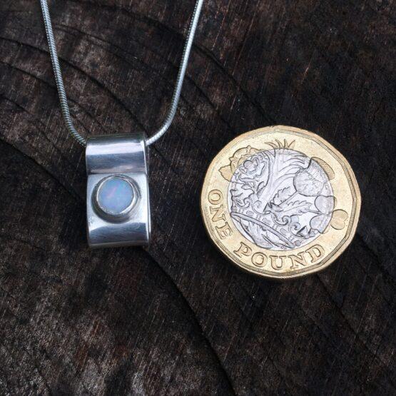 Chilli Designs opal rectangle pendant
