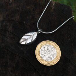 Chilli Designs deep leaf pendant