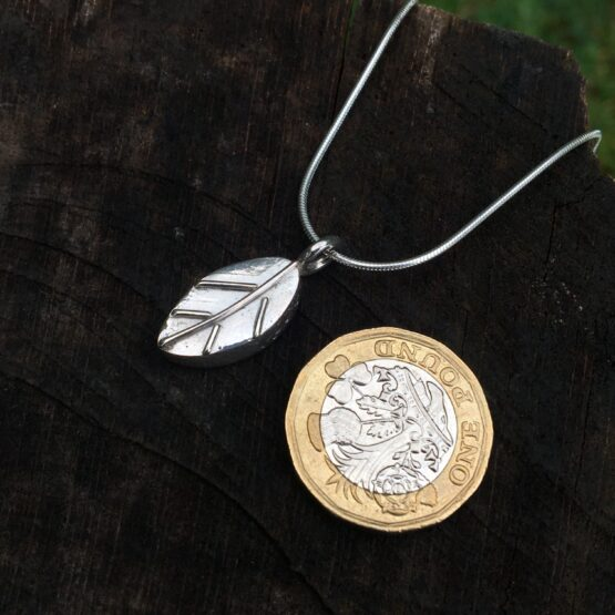 Chilli Designs deep leaf pendant