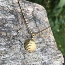 Chilli Designs gold plated cockle shell