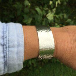 Chilli Designs hammered cuff bangle