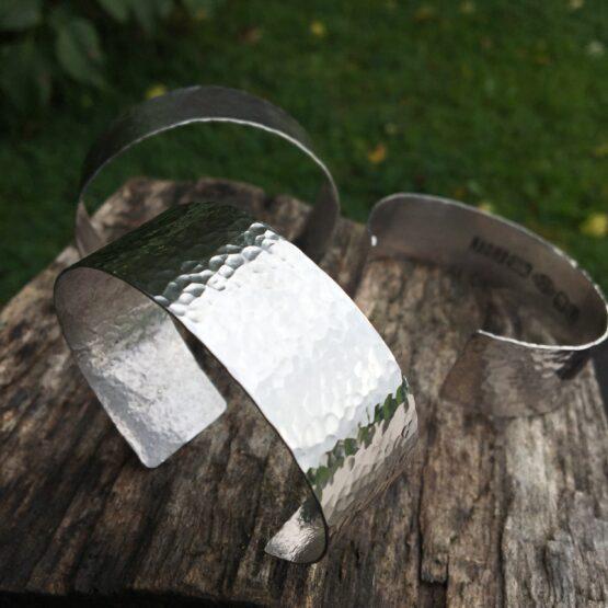 Chilli Designs hammered cuff bangles