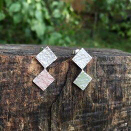 Chilli Designs hammered two diamond studs