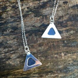 Chilli Designs rose cut sapphire triangle pendant