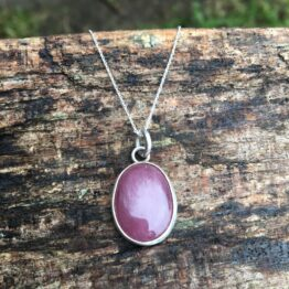 Chilli Designs ruby heart pendant
