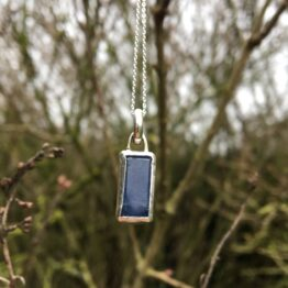 Chilli Designs sapphire rectangle pendant