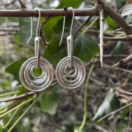 Chilli Designs circles drop earrings