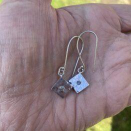 Chilli Designs labradorite flush set drop earrings