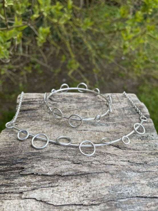 Chilli Designs circles bangle and necklace