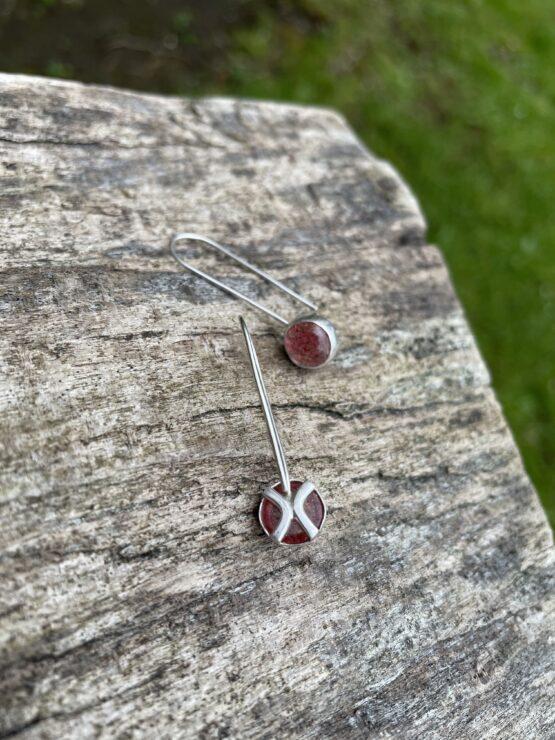 Chilli Designs strawberry quartz drop earrings