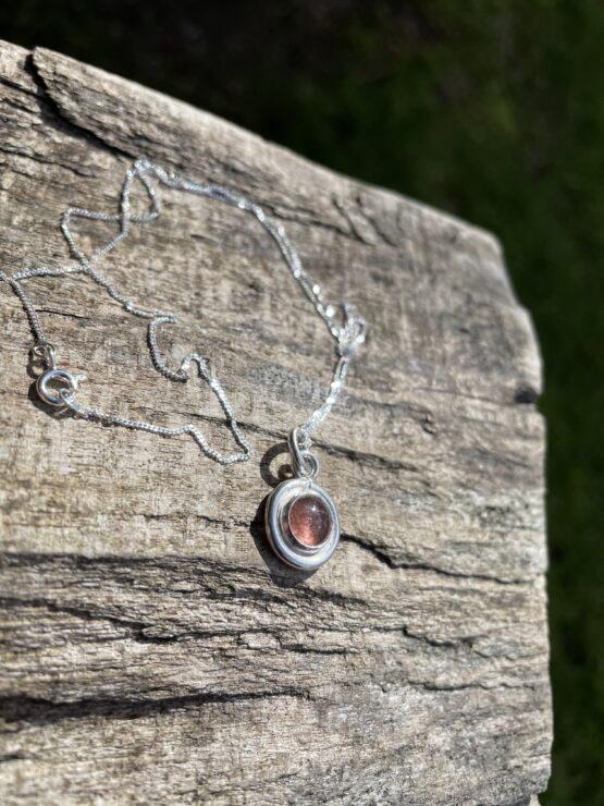 Chilli Designs strawberry quartz pendant