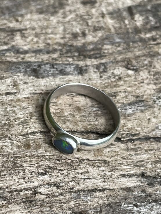 Chilli Designs wide band opal ring