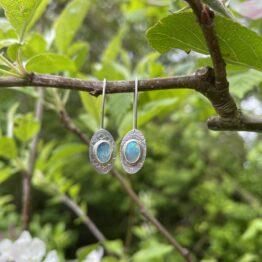 Chilli Designs drop opal earrings