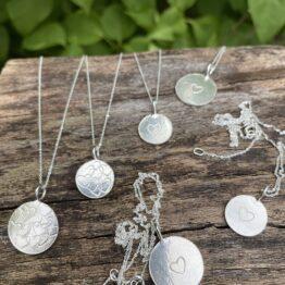 Chilli Designs heart stamped pendants