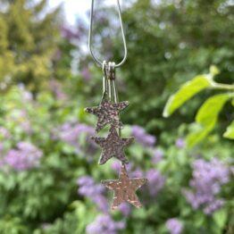 Chilli Designs three star drop necklace