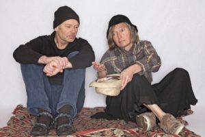 Two beggars begging for money