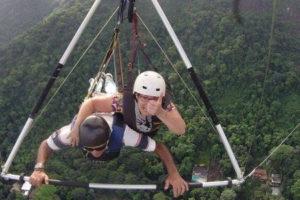Gillian hang gliding at Pedra Bonita Rio de Janeiro