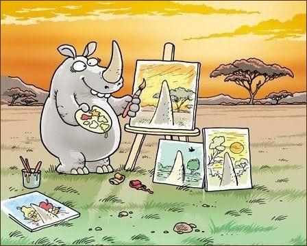 Носоріг-художник