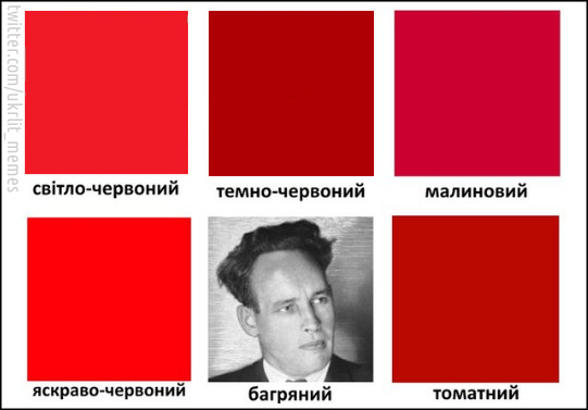 Таблиця кольорів