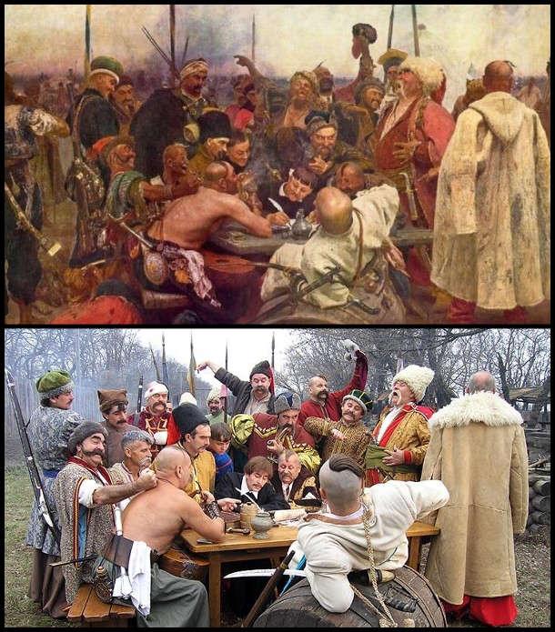 """Косплей на нартину Іллі Рєпіна """"Козаки пишуть листа турецькому султану"""""""