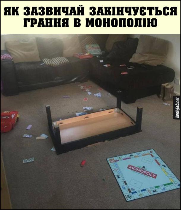 Прикол Гра Монополія. Як зазвичай закінчується грання в монополію