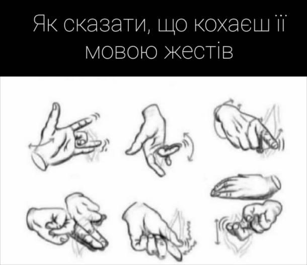 Прикол про мову жестів. Як сказати, що кохаєш її мовою жестів