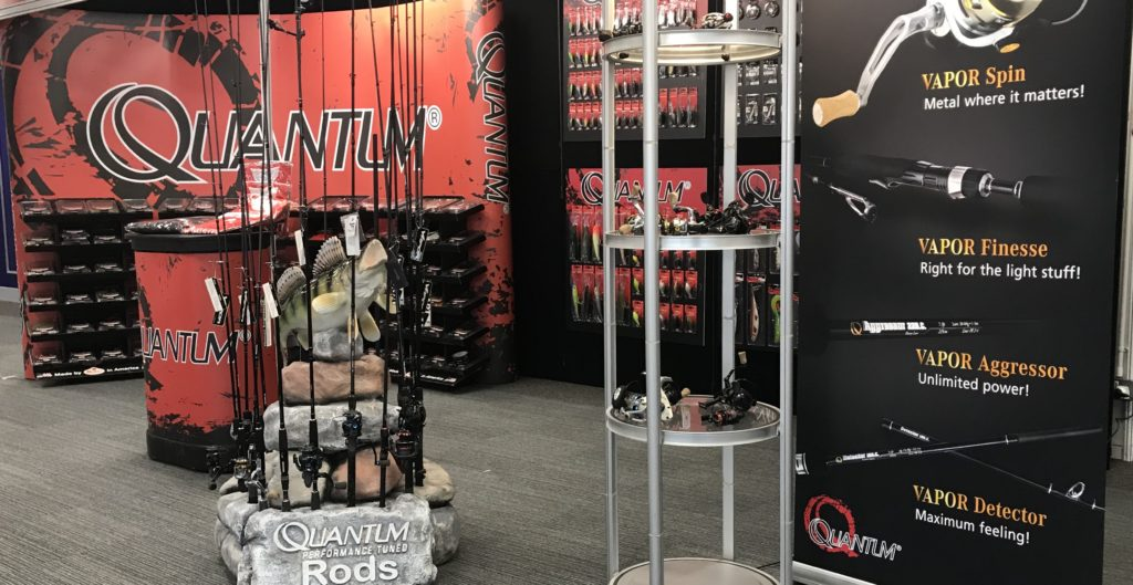The Quantum Fishing stand at the Big One 2019