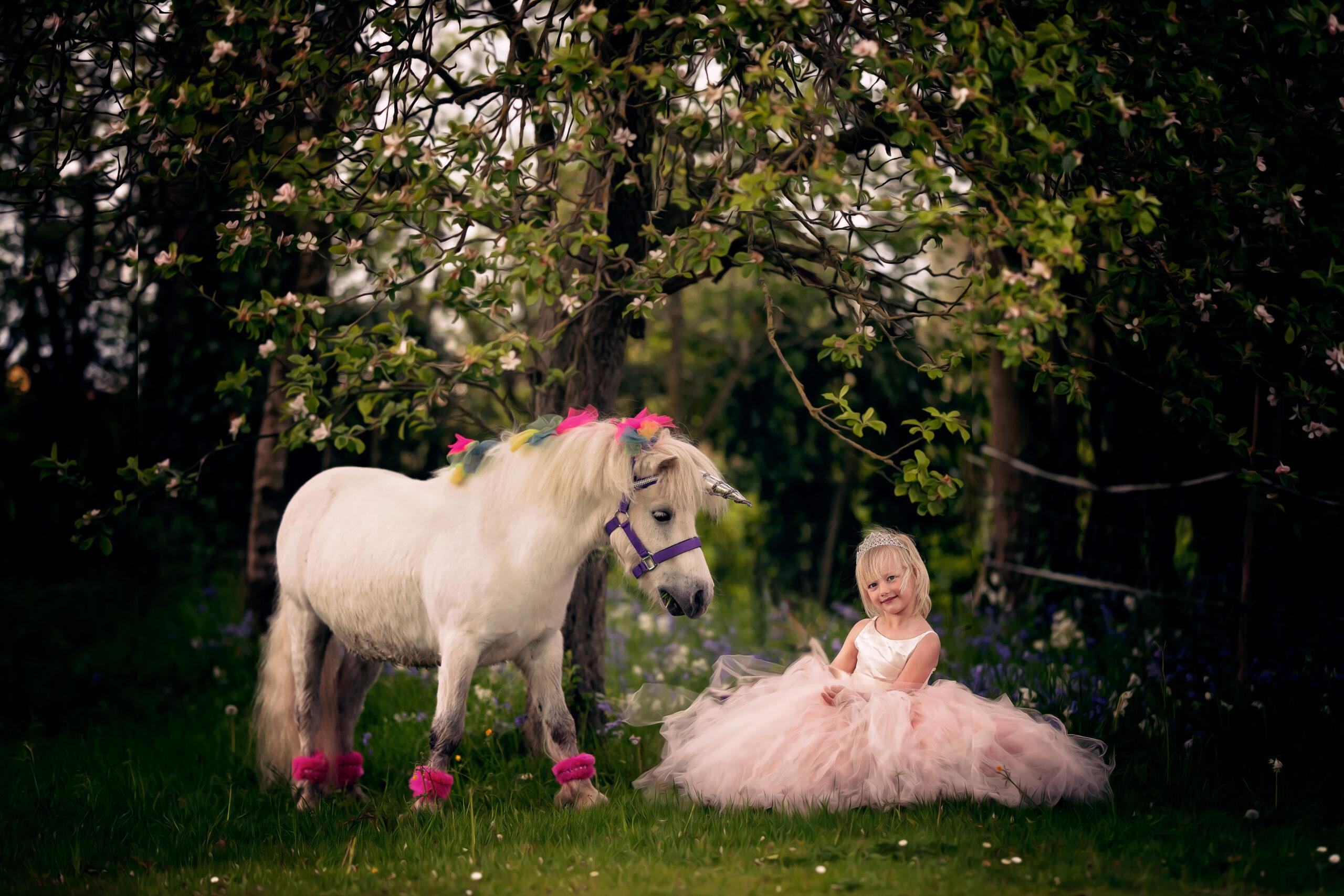 Unicorn photo shoot cheshire