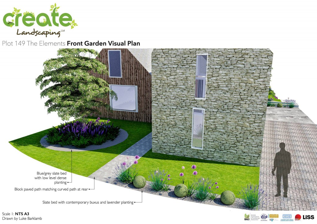 front garden Plot 149 Elements