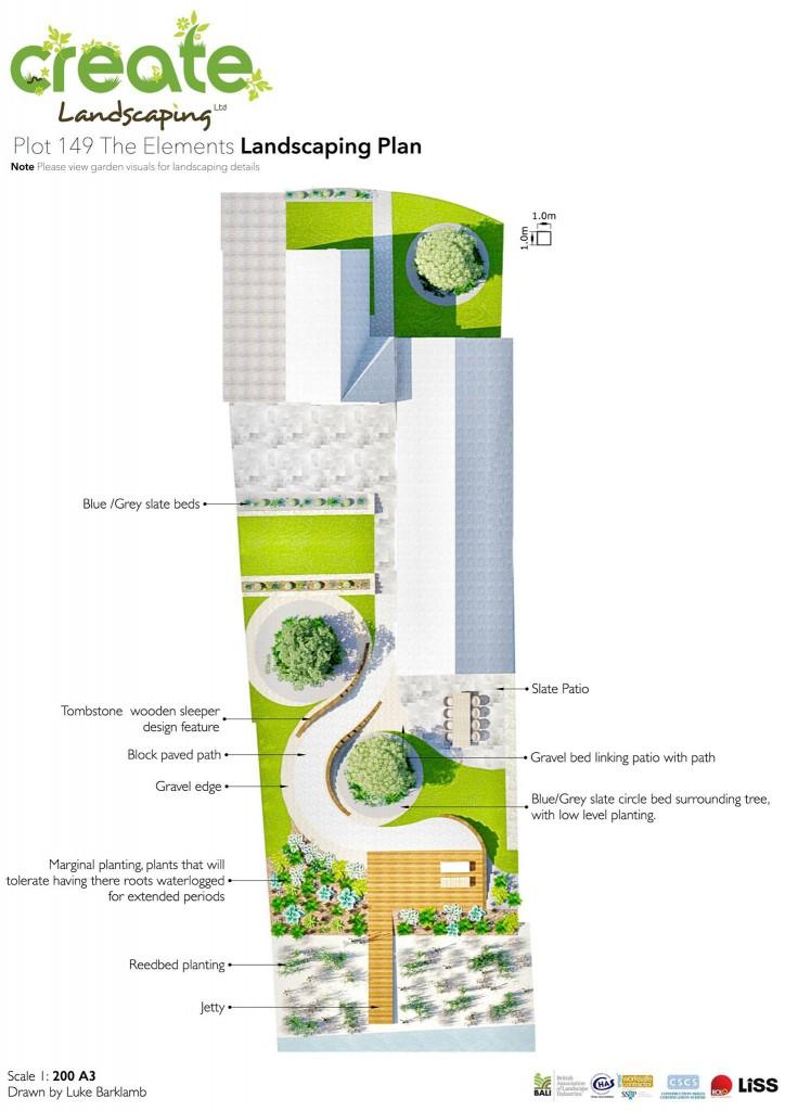landscaping plan Plot 149 Elements