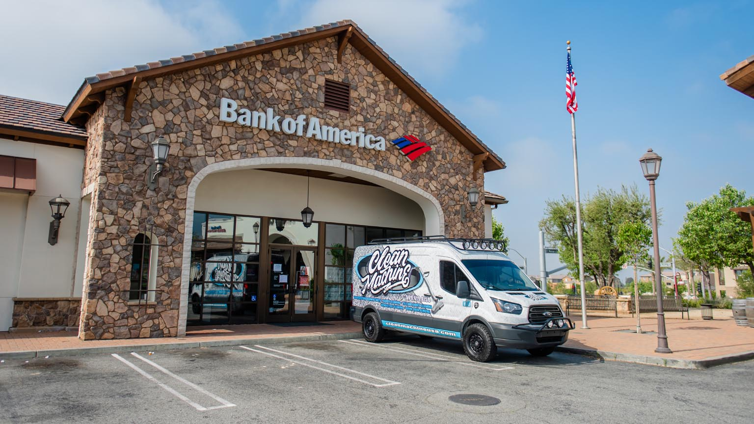 Clean service in Bank of america