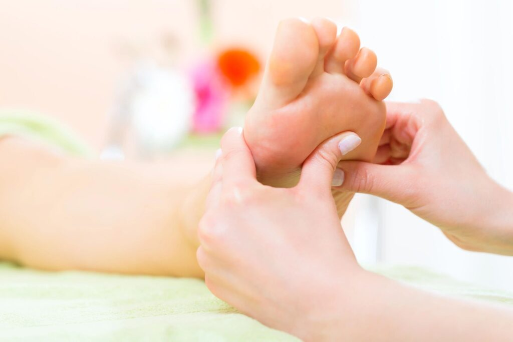 Reflexology on the foot