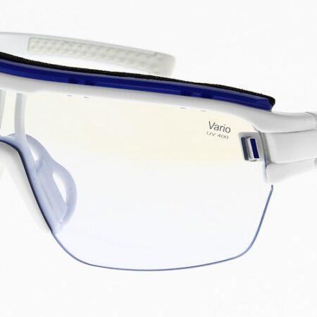 Adidas Sunglasses Zonyk Aero Pro Shiny White Vario/Blue Mirror AD05 75 1500 00 0S